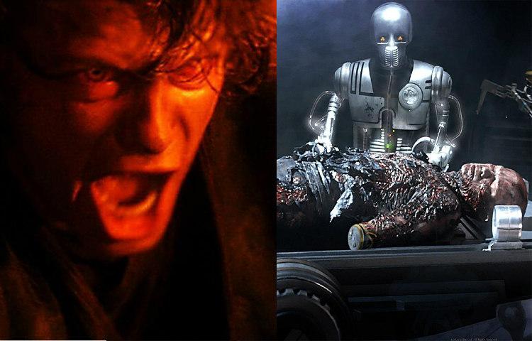 Burnt Anakin Skywalkwer Becoming Darth Vader