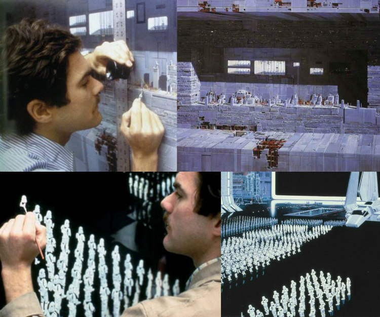 Matte Paintings Used for Filming Star Wars
