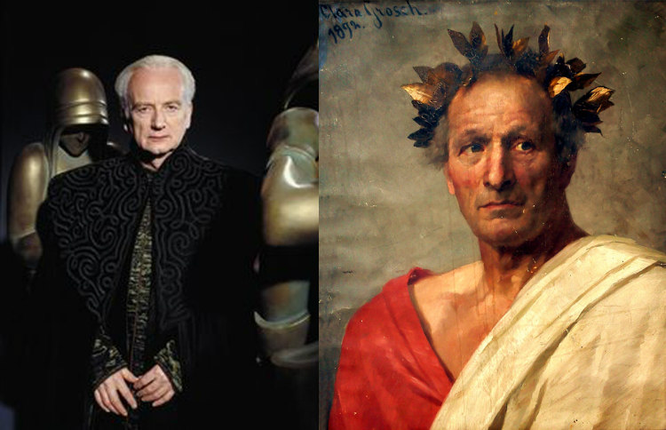 Supreme Chancellor Palpatine and Julius Caesar