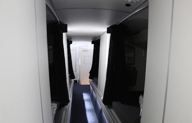 Secret Airplane Compartments Of Flight Attendants In Pictures