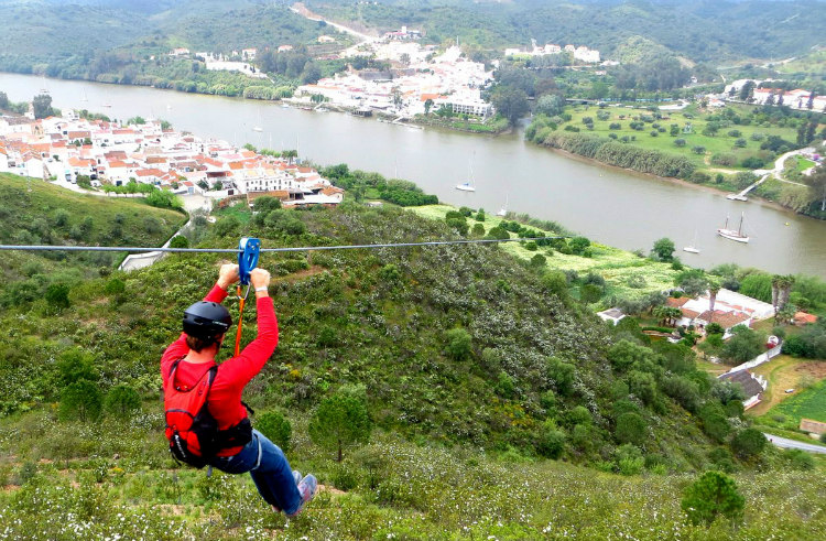 Portugal and Spain Border with Zipline