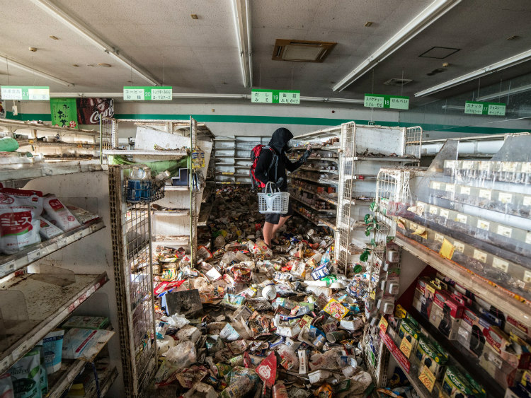 Abandoned Store in Fukushima's Red Exclusion Zone