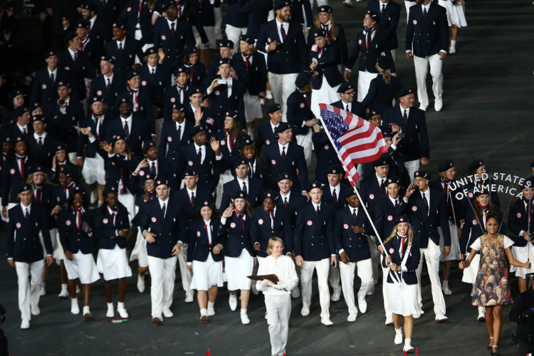 US Flag - 2012 Olympic Games Opening Ceremony