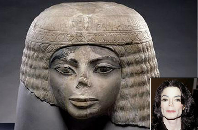 Ancient Egyptian Bust and Michale Jackson