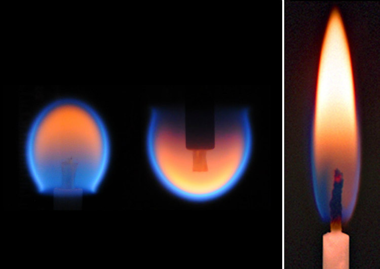 Candle Flame in Microgravity