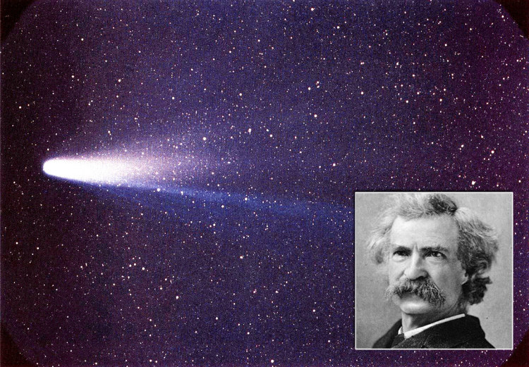Mark Twain and Halley Comet