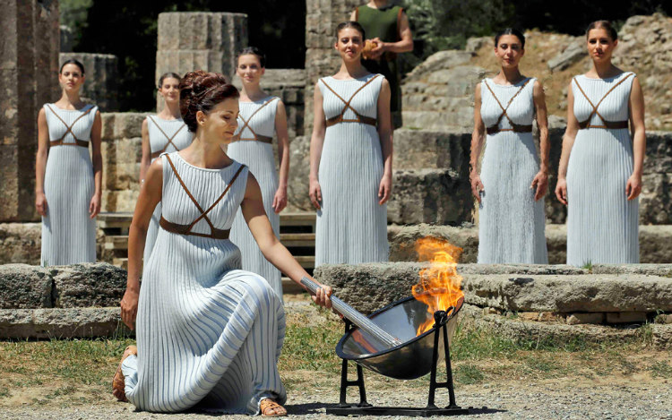 Olyping Flame in Greece