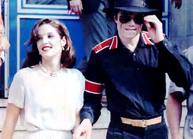 Michael Jackson with Lisa Presley