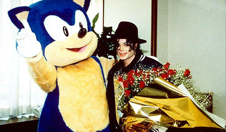 Michael Jackson with Sonic the Hedgehog
