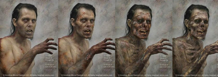 The Walking Dead - Zombie Stages Concept Art