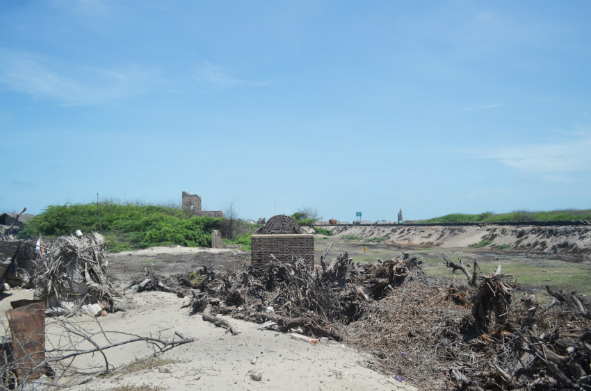 Old railway station of Dhanushkodi