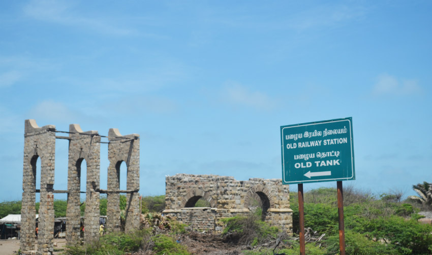 Dhanushkodi's old railway station