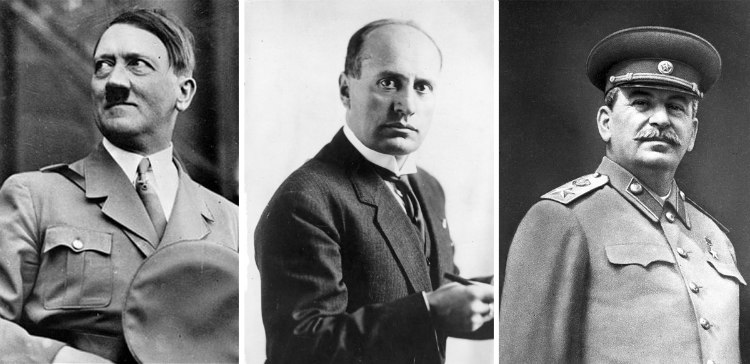 Hitler, Mussolini and Stalin