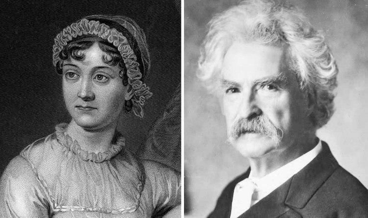 Mark Twain and Jane Austen
