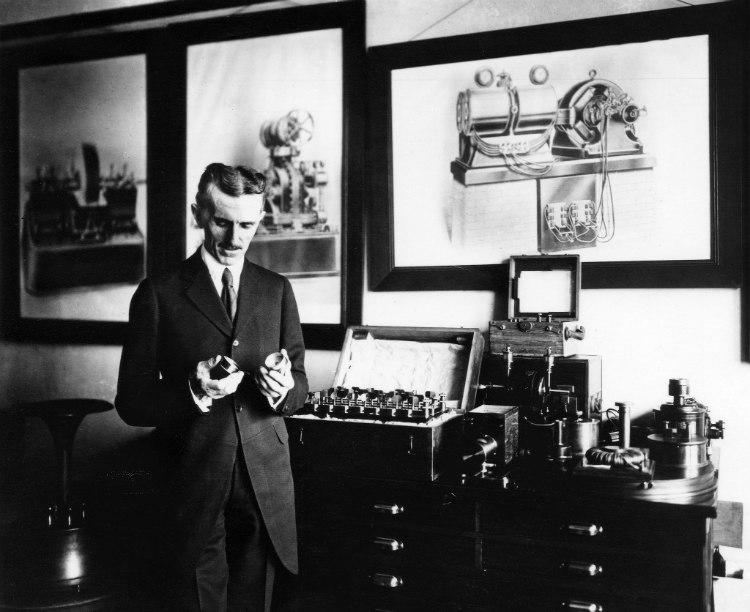 Nikola Tesla at Work