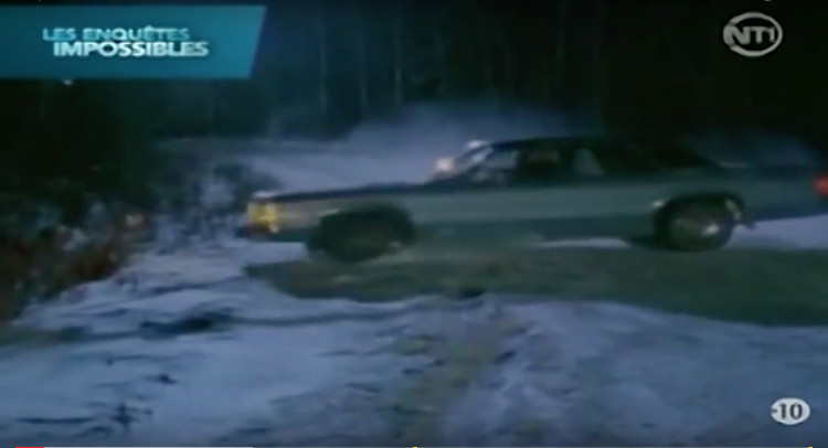 car skidded on icy road