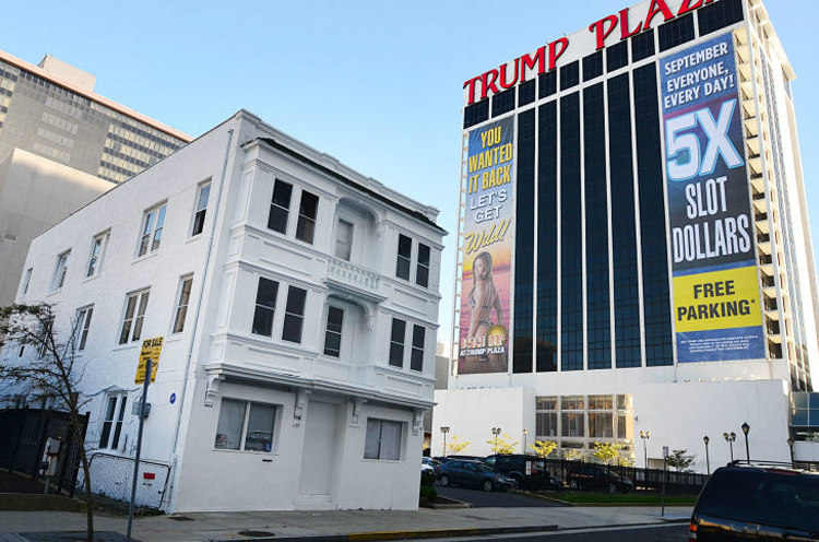 Trump Plaza and Vera Coking's House