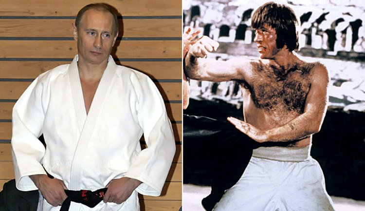 Vladimir Putin and Chuck Norris