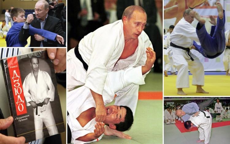 Vladimír Putin na súťažiach v bojových umeniach