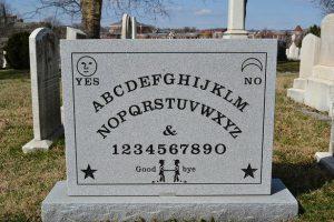 The Ouija gravestone of Elijah Bond