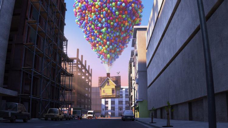 Balloons Lifting Carl's House