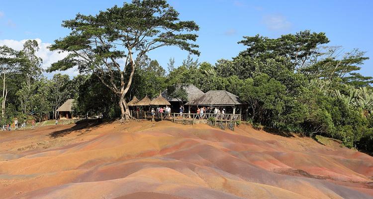 Chamarel plain in Mauritius