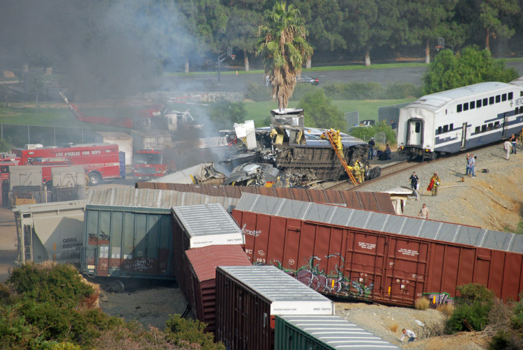 Chatsworth Crash Accident Scene