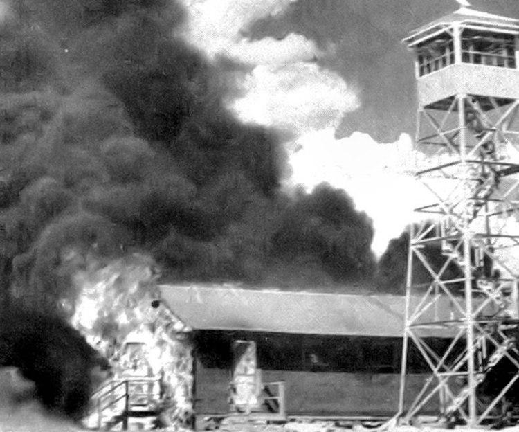 Carlsbad Army Airfield Auxiliary Air Base on Fire