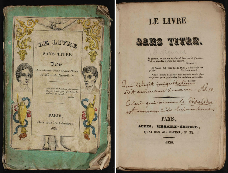 Cover Pages of Le Vivre Sans Titre
