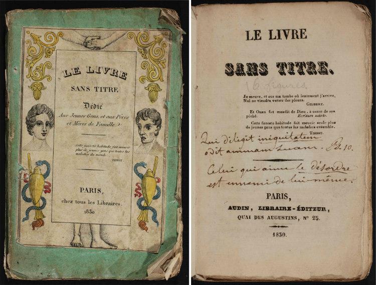 Cover Pages of Le Vivre Sans Titre