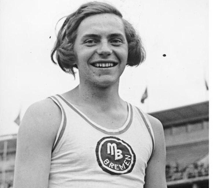Dora Ratjen at Sports Event