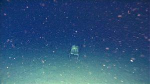 Chair at bottom of ocean