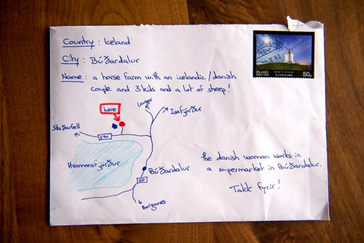 Hand Drawn Map Instead of Address