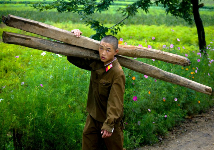 Soldier Doing Menial Jobs