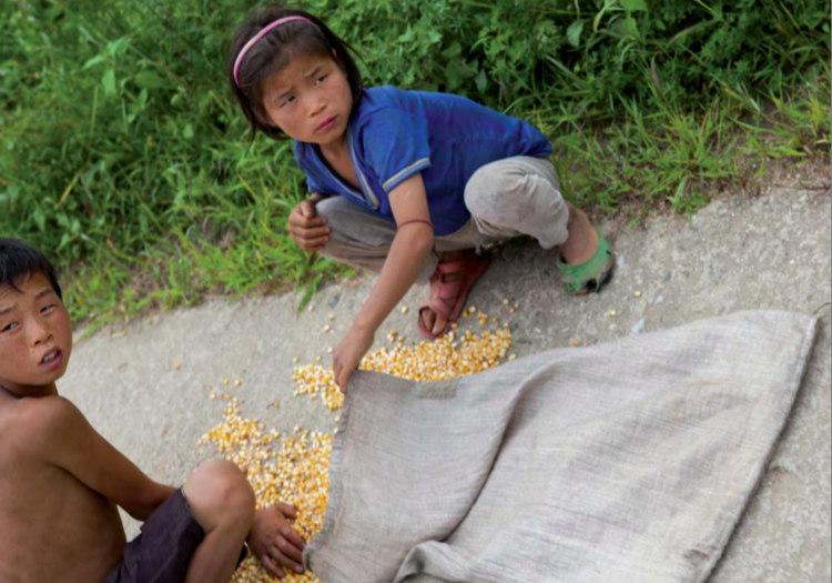 Children Gathering Corn