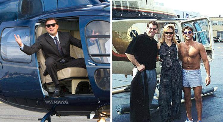 Leonardo DiCaprio and Jordan Belfort
