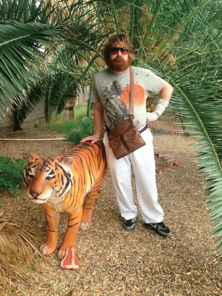 Thaddeus Kalinoski with tiger
