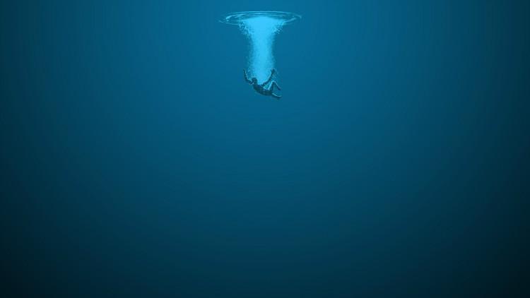 Drowning in ocean