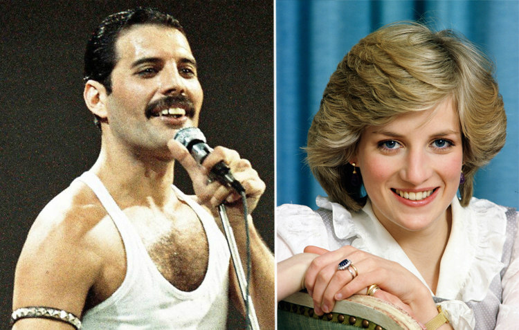 Freddie Mercury and Princess Diana
