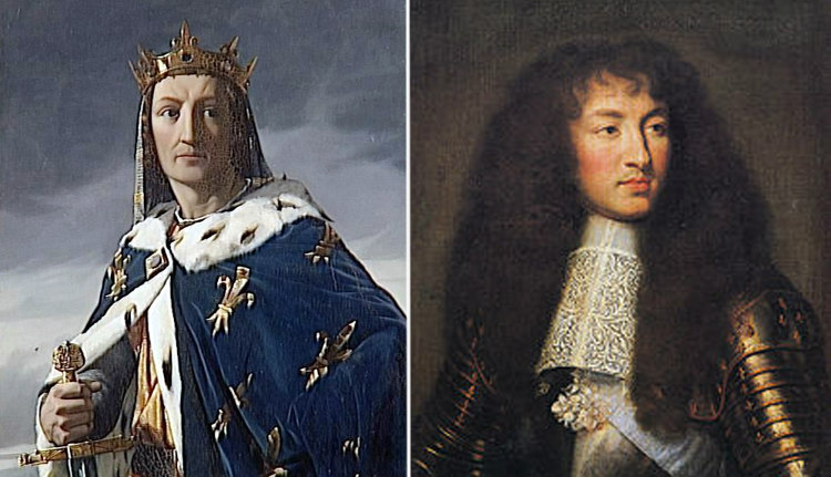 Louis IX and Louis XIV of France