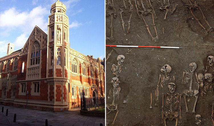 Skeletons Under Old Divinity School of St John's College
