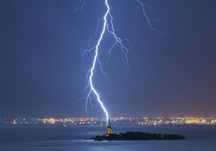 Lightning Strike NY Harbor