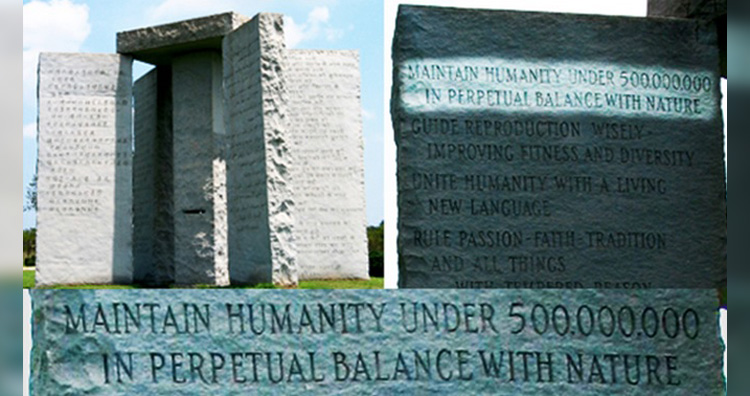 Georgia Guidestones message