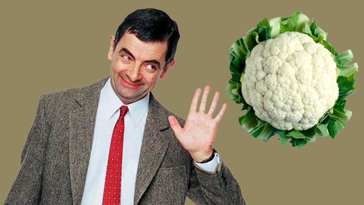 Mr. Bean and Mr. Cauliflower