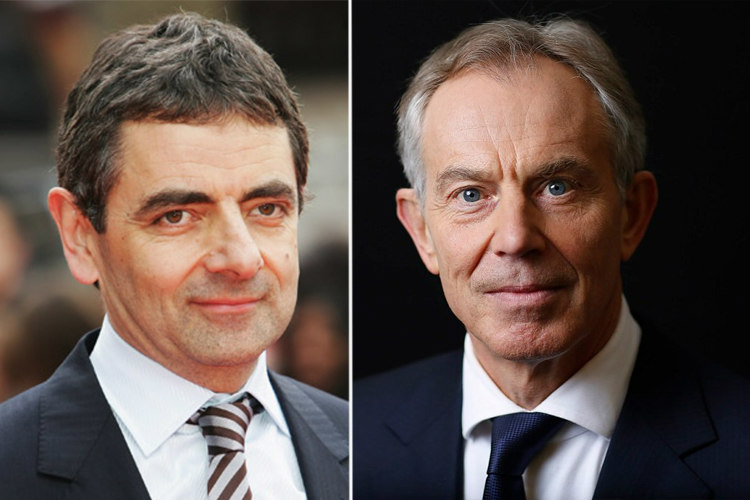 Image result for rowan atkinson, tony blair