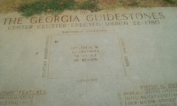 georgia guidestones tablet