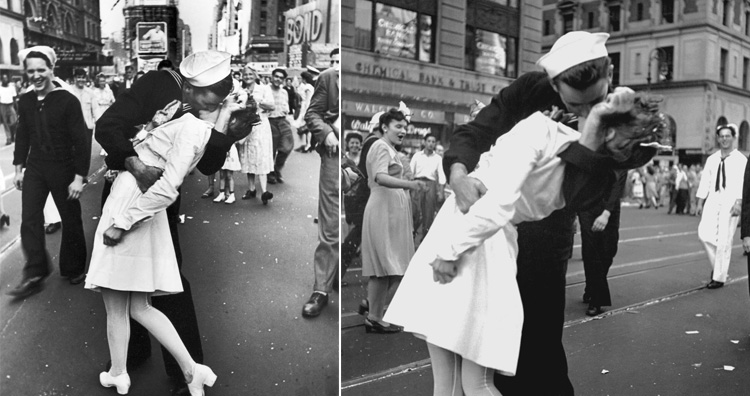 The V J Day kiss