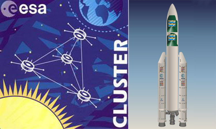 Cluster Insigna and Ariane 5 with Cluster