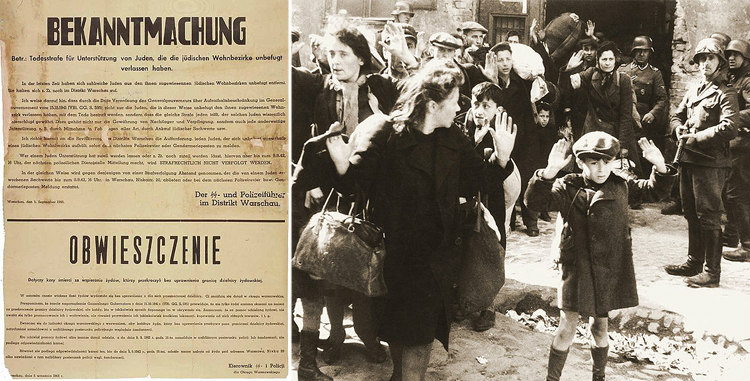 Death Penalty for Jew Helpers and Children at Warsaw Ghetto