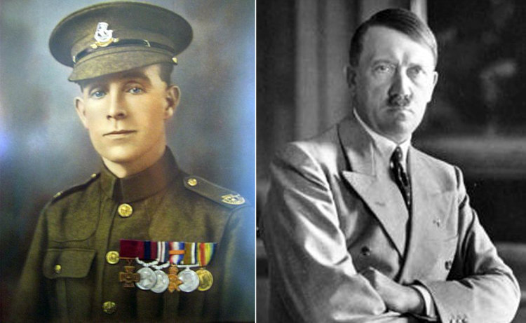 Henry Tandey and Adolf Hitler